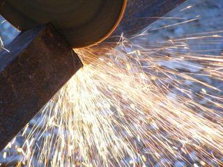 Sparks and grinder