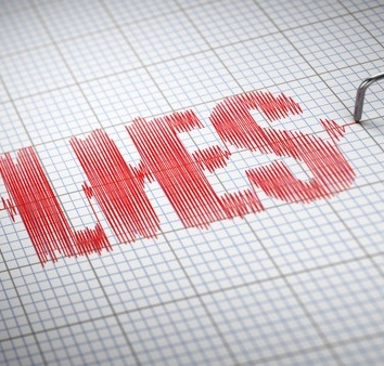 how often does the average person lie