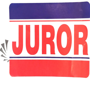 Juror badge square